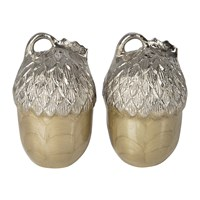 Julia Knight Acorn Salt And Pepper Set Toffee