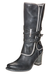 Mustang Cowboy Biker Boots Anthrazit Anthracite