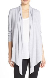 Women's Lucky Brand Drape Front Cardigan Heather Grey