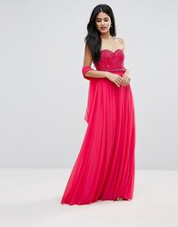 Forever Unique Sweetheart Detail Maxi Dress Pink