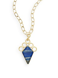 Stephanie Kantis Aurora Blue Lapis And 24K Yellow Gold Pendant