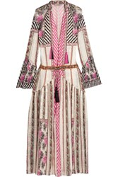 Etro Embroidered Silk Jacquard Maxi Dress Pink
