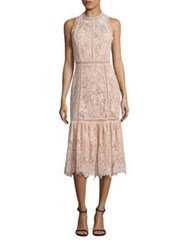 Rebecca Taylor Arella Lace Midi Dress Ballet
