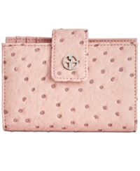 Giani Bernini Ostrich Embossed Frame Wallet Created For Macy's Blush