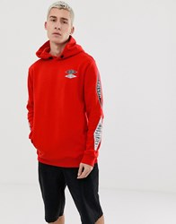 Volcom V.I Hoodie With Sleeve Print In Red