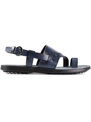Tod's Strappy Sandals Blue