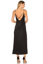 Alexander Wang Interlock Criss Cross Strap Dress Black