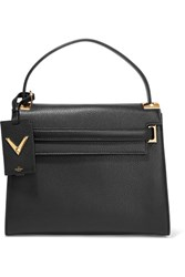 Valentino My Rockstud Large Textured Leather Tote Black