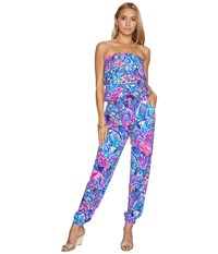 bdc47a863c98 Lilly Pulitzer Ailsie Jumpsuit True Blue Seas The Day Women s Jumpsuit And Rompers  One Piece Multi