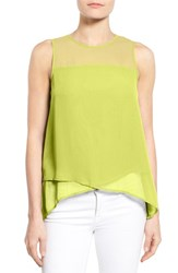 Women's Vince Camuto Asymmetrical Sleeveless Blouse Acid Lime