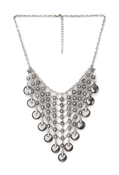 Forever 21 Mesh Chain And Coin Bib Necklace