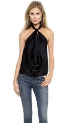 Ramy Brook Harriet Halter Top Black