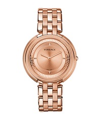Versace Ladies Thea Watch With Chain Link Strap Rose Gold