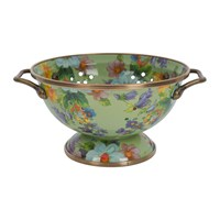 Mackenzie Childs Flower Market Colander Small Green
