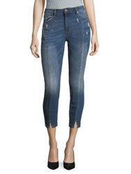 Design Lab Lord And Taylor Distressed Ankle Jeans Chloe Blue