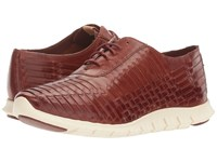 Cole Haan Zerogrand Huarache Oxford Brown Leather Women's Lace Up Casual Shoes