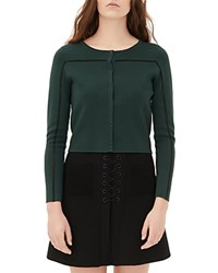 Sandro Gayle Cropped Cardigan Green Bottle