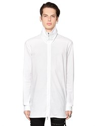 Diesel Black Gold High Collar Cotton Poplin Shirt