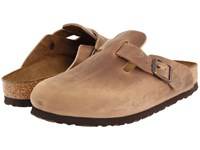 Birkenstock Boston Oiled Leather Unisex Tobacco Oiled Leather Clog Shoes Brown