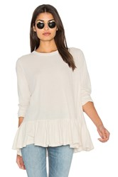 The Great Baggy Ruffle Tee White