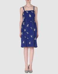 Essentiel Short Dresses Blue