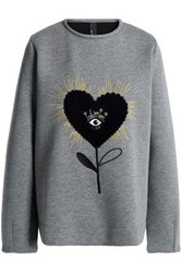 Mother Of Pearl Embellished Cotton And Modal Blend Sweatshirt Gray