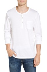 Alternative Apparel Men's Classic Henley White