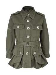 Marc By Marc Jacobs Cotton Twill Military Jacket Khaki Green