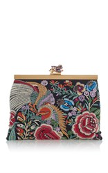 Roberto Cavalli Frame Mini Bag In Enchanted Garden Multi
