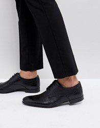 Base London Purcell Leather Brogue Shoes Black