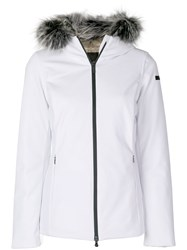 Rrd Fur Hood Trim Jacket Feather Down Polyamide Spandex Elastane White