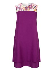 Hotsquash Double Layered Dress In Coolfresh Purple