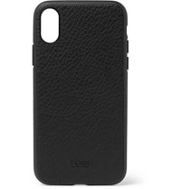 Hugo Boss Crosstown Full Grain Leather Iphone X Case Black