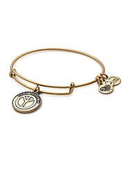 Alex And Ani Turn Peace Up Charm Adjustable Bracelet Russian Gold