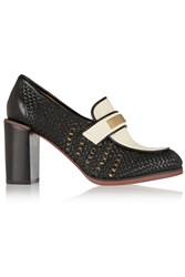 See By Chloe Two Tone Leather Pumps Black