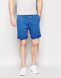 Edwin Chino Shorts Rail Tapered Stretch Sateen Royal Blue Overdyed Royal Blue