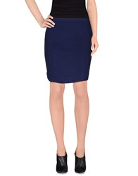 Le Mont St Michel Skirts Knee Length Skirts Women Dark Blue