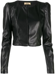 Liu Jo Cropped Length Structured Jacket Black