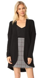 Tse Cashmere Long Sleeves Cocoon Cardigan Black