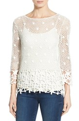 Women's Kut From The Kloth 'Lola' Open Knit Layering Top