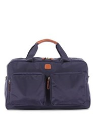 Bric's Xtravel Tuscan Leather Blend Boarding Duffle Bag Steel Orange Black Olive Brown