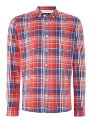 Duck And Cover Todd Ls Shirts Red