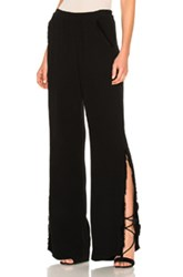Raquel Allegra Split Bell Bottom Pant In Black