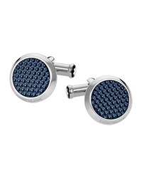 Montblanc Meisterstuck Cufflinks W Hexagonal Inlay Blue