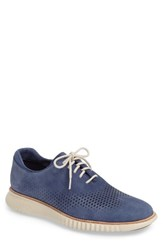 Cole Haan Men's 2.Zerogrand Wingtip Washed Indigo Nubuck Leather