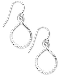 Unwritten Sterling Silver Earrings Textured Twist Drop Earrings