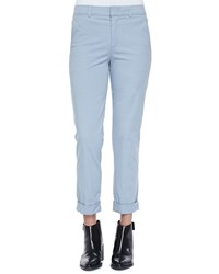 Rolled Cuff Boyfriend Trousers Slate Blue Vince