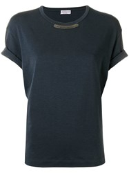 Brunello Cucinelli Plain T Shirt Blue