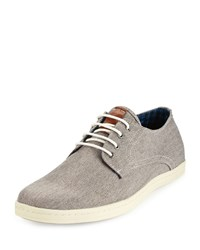 Ben Sherman Presley Oxford Canvas Sneaker Gray Linen