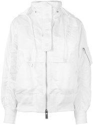 Sacai Hooded Bomber Jacket White